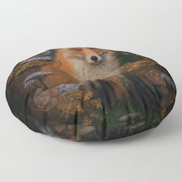 The Fox In The Forest Floor Pillow