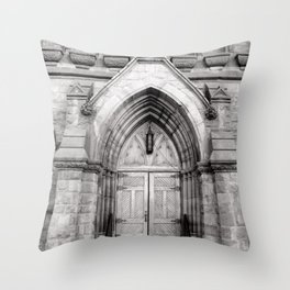 The Doors are but One Way In Throw Pillow