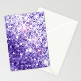Ultra Violet Purple Glitter Stationery Cards