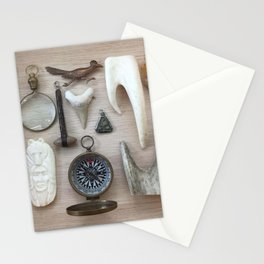A Compass and Antlers and Artifacts, OH MY! Stationery Cards