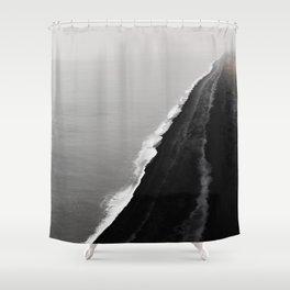 Black Sand Beach, Iceland Shower Curtain