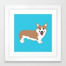 Smiling Corgi Dog Art Framed Art Print