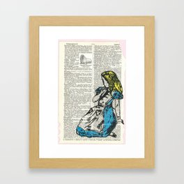 Alice & The Walrus Framed Art Print