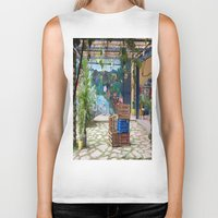 bicycles Biker Tanks featuring bicycles and mural by lennyfdzz