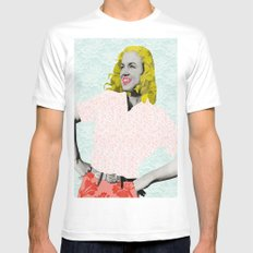 Marilyn Monroe. Mens Fitted Tee White MEDIUM