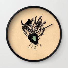 Nevada - State Papercut Print Wall Clock