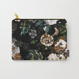 Floral Night Garden Carry-All Pouch