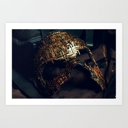 Mirror Mask (2) Art Print