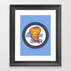 Chibi Human Torch Framed Art Print