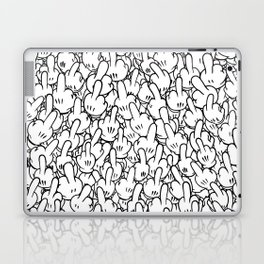 Middle fingers of Mickey Mouse Laptop & iPad Skin