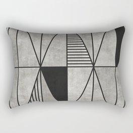 Concrete Triangles Rectangular Pillow