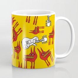 Guitars & Dogs Pattern Coffee Mug