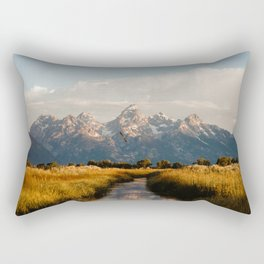 Grand Teton National Park at Sunrise Rectangular Pillow