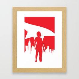 Mirror's Edge Minimalist Poster Framed Art Print
