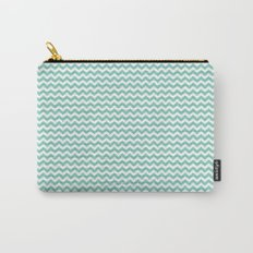 Chevron Mint Carry-All Pouch