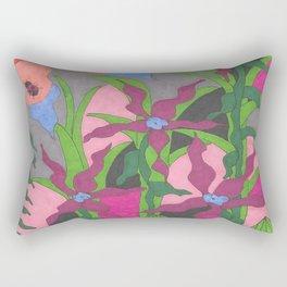 The Garden at Twilight Rectangular Pillow