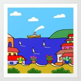Mediterranean Holiday Art Print