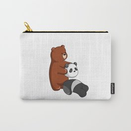 Hey Bear Grizzly Pulls Off Panda Bear Head Carry-All Pouch