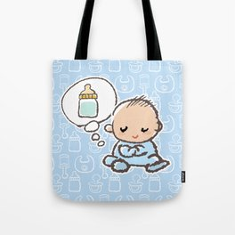 Baby boy Thinking of Milk Tote Bag