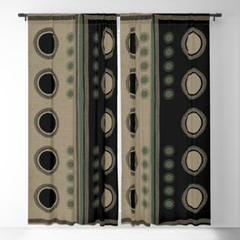 """Tribal Ethnic Blue Stars"" Blackout Curtain"