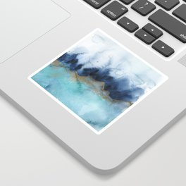 Mystic abstract watercolor Sticker