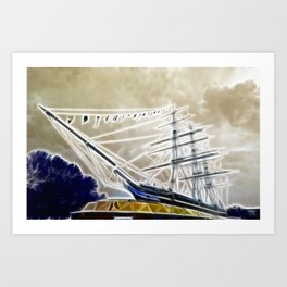 The Cutty Sark Greenwich Art Print