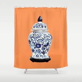GINGER JAR NO 4 TANGERINE Shower Curtain