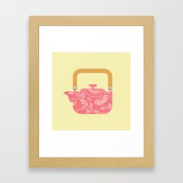 Japan Teapot Spring Framed Art Print