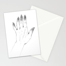 Gray Nails Stationery Cards