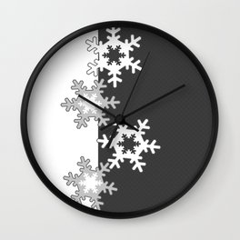 Black and white Christmas pattern Wall Clock