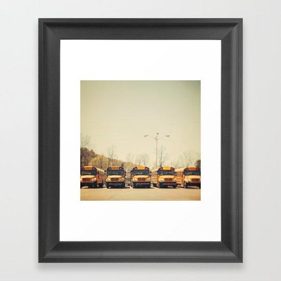 School Days Framed Art Print