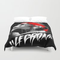 lebron Duvet Covers featuring Lebron J by squadcore