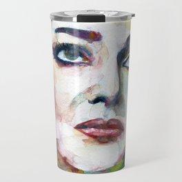 MARIA CALLAS - watercolor portrait .8 Travel Mug