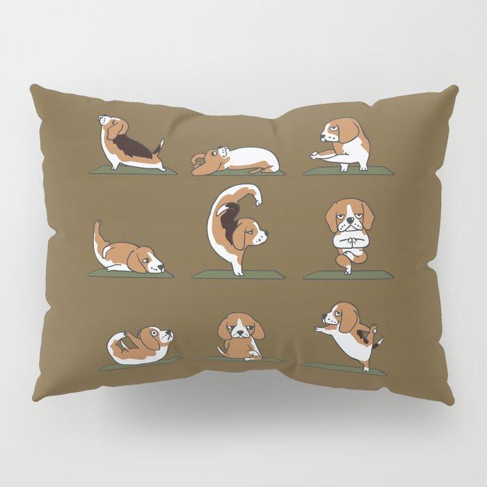 Beagle Yoga Pillow Sham
