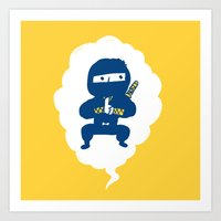 ninja Art Prints featuring Ninja by taichi_k