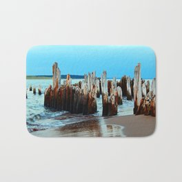 Beach Relics of a Time Gone By Bath Mat