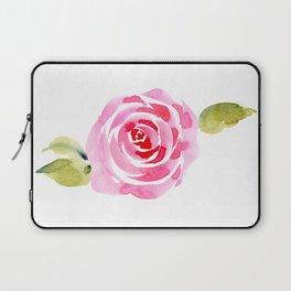 Single Rose, Watercolor Laptop Sleeve