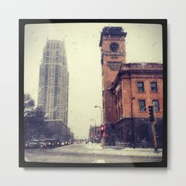 Downtown Minneapolis in December Metal Print