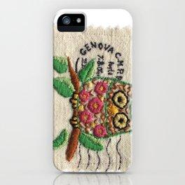 owl stamp iPhone Case