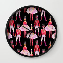 Nutcracker Ballet - Black Wall Clock
