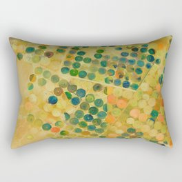 Circle Crops of Wadi, Saudi Arabia Aerial view Rectangular Pillow