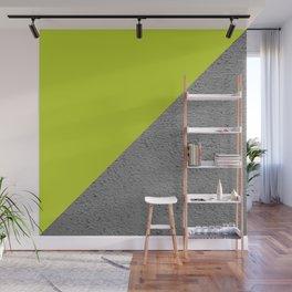 Cement Lime Diagonal Color Block Wall Mural