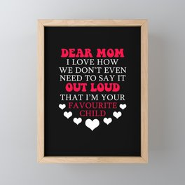 Cute Mother's Day Mother Parent Family Mom Gift Framed Mini Art Print