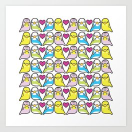 Budgie Love Art Print