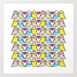 Budgie Love Art Print
