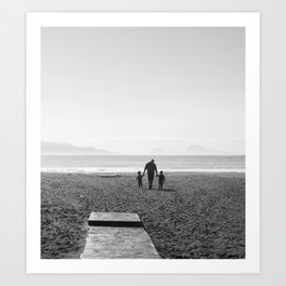 The sea and the men Art Print