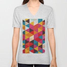 Triangular Composition XIX Unisex V-Neck