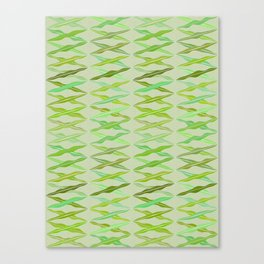 crisscrossed leaves Canvas Print