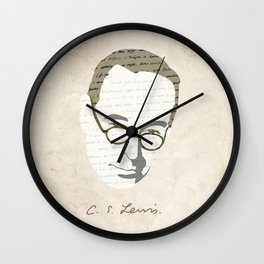 C.S. Lewis Wall Clock