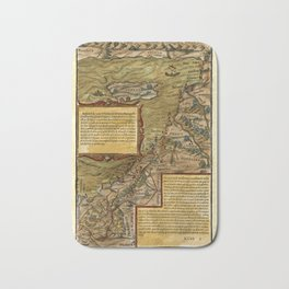 Map Of The Holy Land 1544 Bath Mat